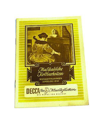 2 k104 Schallplatten Parade Decca Platten Nummern Katalog Klassik Nr