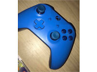 Xbox one limited edition blue controller and Chatpad excellent condition