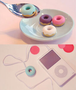 4 Pcs X For MP3 MP4 Phone Doughnut – Earphone Cable Winder Music Donut New