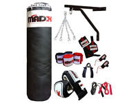 5FT Punch Bag Set: 13 piece boxing set by MADX