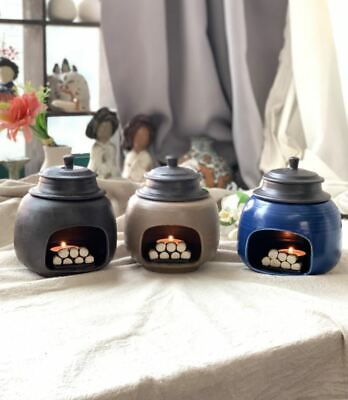 Korean Ceramic Warmer Iron Pot Furnace Miniature Candle Lamp Aroma Therapy