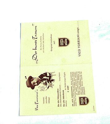 Schellack Decca Neuaufnahmen Oper Operette Konzert 7.folge 1951 Katalog Periodika & Kataloge k97