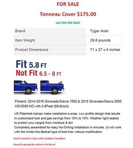 TONNEAU COVER for pickup