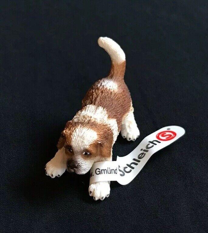 NEW! Schleich St. Bernard Puppy #16834 Leg Tag GREAT STOCKING STUFFER!