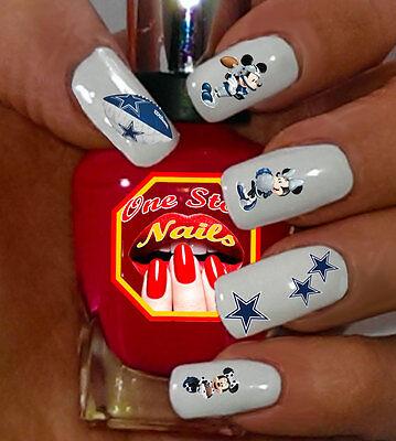 Dallas Cowboys Mickey Nail Art Waterslide Nail Decals Set of DCM003-55](Dallas Cowboys Nail Stickers)