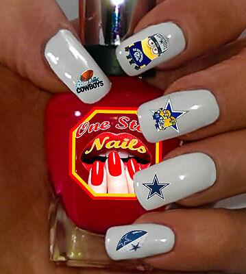 Dallas Cowboys Minions Nail Art Waterslide Nail Decals Set of DC002-56](Dallas Cowboys Nail Stickers)