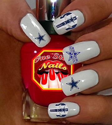 Dallas Cowboys Nail Art Waterslide Nail Decals Set of FCD-005-38](Dallas Cowboys Nail Stickers)