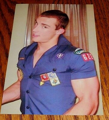 Cute Male Tight Uniform Muscular Arms Jock Frat Guy Dude PHOTO 4X6 P1560**