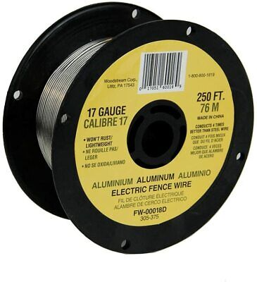 Fi-shock 250-feet 17 Gauge Spool Aluminum Wire Electric Fence Wire Fw-00018d