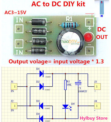 Rectifier Filter Power Supply Amp Amp Amplifierboard Ac To Dc 5v12v Module Diy