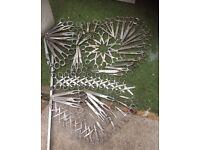 job lot metal art structure made of scissors welded together