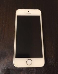 iPhone 5S 64gb Telus white silver top shape