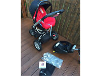 Maxi cosy car seat, rain cover, isofix base and FREE quinny buzz base with adapters