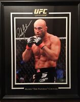 Framed Autographed Randy Couture photo