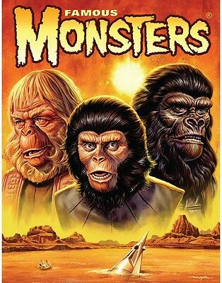 PLANET OF THE APES 18x24 Poster CANVAS Giclee JASON EDMISTON Famous Monsters 275