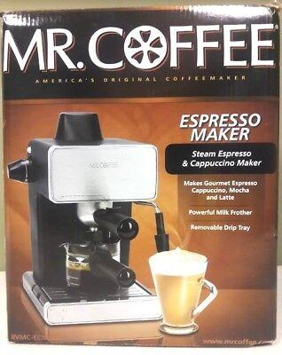 Mr Coffee Espresso Machine 4 Cup Steam Espresso Cappuccino Maker BVMC ECM260