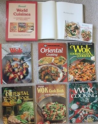 Lot of 11 cook books Chinese Japanese Asian cooking Wok Oriental Dim Sum recipe