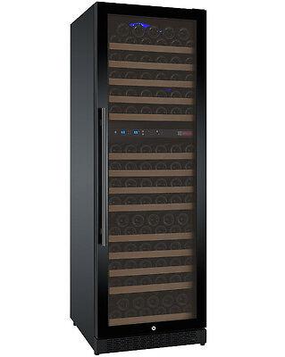 Allavino 172 Bottle Built-In Commercial Wine Cooler Refrigerator Dual Zone Black ()