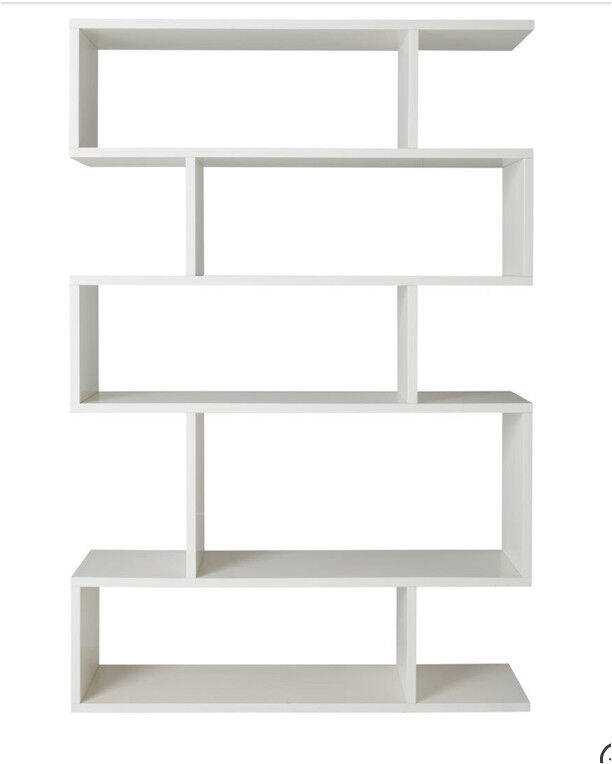 Designer Terence Conran Content Balance White Tall Shelving Unit