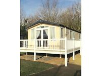 Platinum Caravan for hire at 5* Hopton Holiday Village Norfolk. Bookings from 18th March to 31st Oct