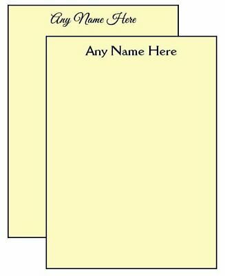 2-pack Yellow Personalized Notepads 14-page 4.25 X 5.5 In. Memo Scratch Pads