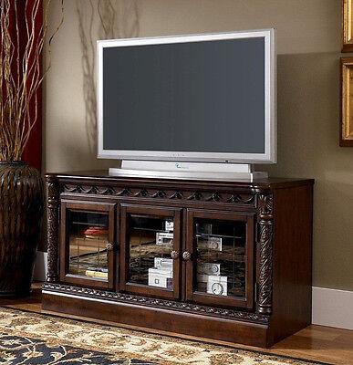 مكتبة تلفزيون جديد Ashley North Shore Traditional Medium TV Stand, Dark Brown, W553-31 New
