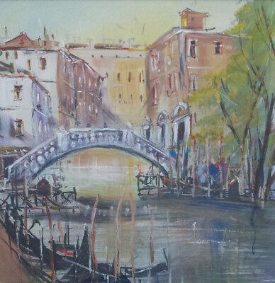 Carol Mountford Acrylic (not oil) painting 'Venetian Shadows'