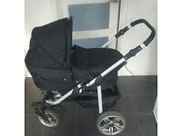 Pram, buggy, carry cot and Car seat with isofix base