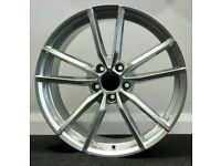 """x4 18"""" Golf R Pretoria Style Alloy Wheels VW Golf Caddy Seat Silver 5x112"""