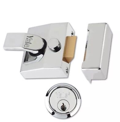 Narrow Deadlock Nightlatch Chrome P-85-CH-CH-40