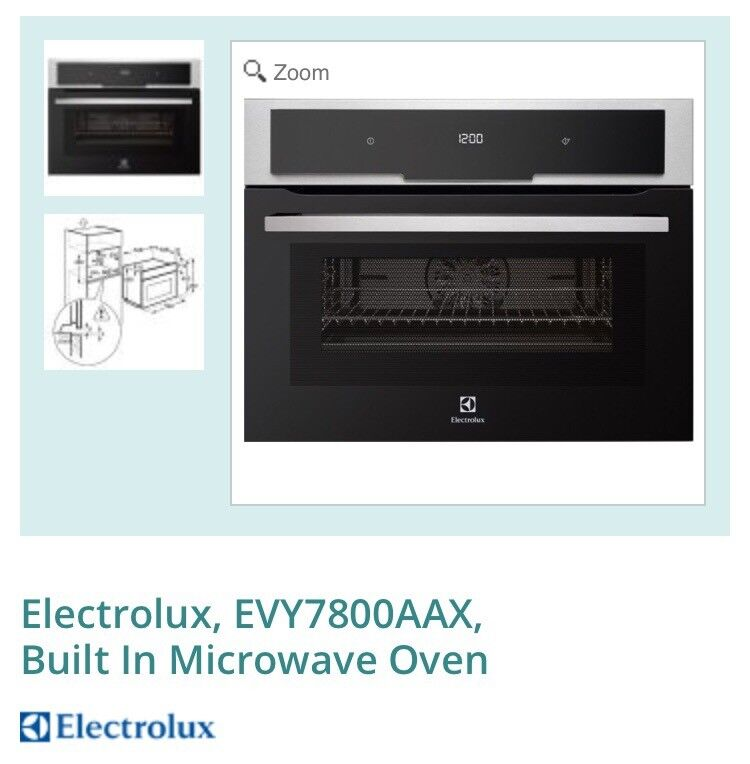 Electrolux Built In Microwave Oven And Warming Drawer