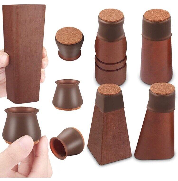 Chair Leg Protectors for Hardwood Floors, 32 Pcs Silicone Chair Leg Caps