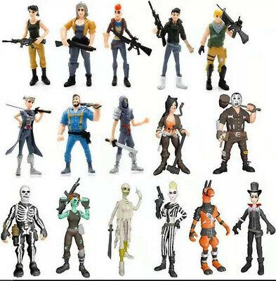 Fortnite Toys Action Figures 16 Pcs Set: Skull Trooper Ninja Outlander Commando ()