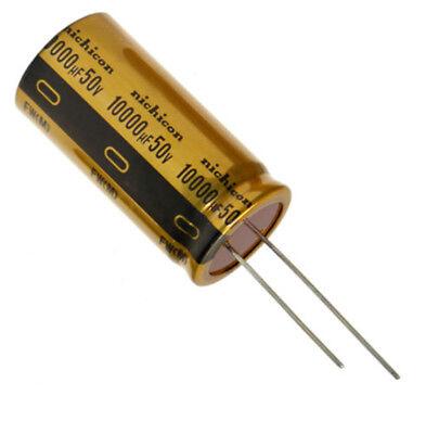 2pcs Fw 10000uf 50v Nichicon Electrolytic Capacitor For Audio Hi-fi Filter Japan