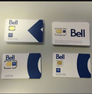 BELL 4G LTE SIM card (Unlimited Data)