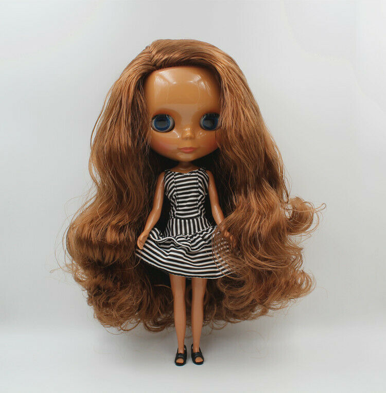 Pink long hair Neo Blythe Doll Factory Nude Doll JD109