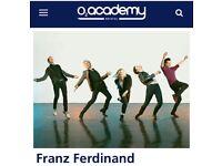2 x Franz Ferdinand tickets
