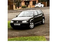 VW Golf Black - 03 plate in Excellent driving condition