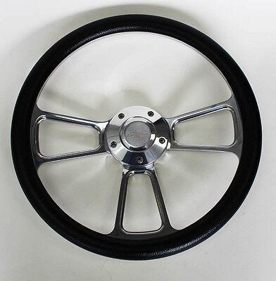 Chevy Bel Air Billet - 55 56 Chevy Bel Air Black Billet Steering Wheel 14