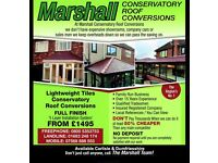 Marshall Conservatory Roof Conversions from £1495 Carlisle & Dumfriesshire