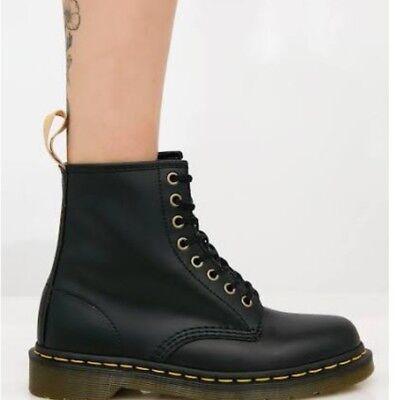Dr Doc Martens Vegan 1460 Felix Rub Off Black Unisex Mens Womens Boots size 8