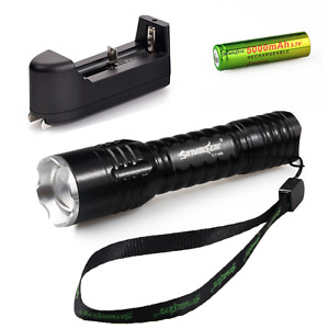 Tactical CREE Q5 LED Flashlight Battery and charger