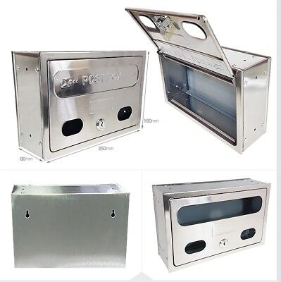 Stainless Steel Iron Mailbox Postbox Wall-Mounted Made In Korea