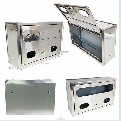 Stainless Steel Iron Mailbox Postbox Wall-Mounted Made In Korea_SU