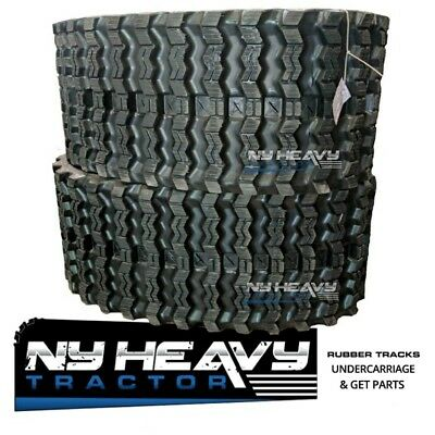 Two Rubber Tracks For Takeuchi Tl230 Tl230-2 320x86x52 Zig Zag Tread