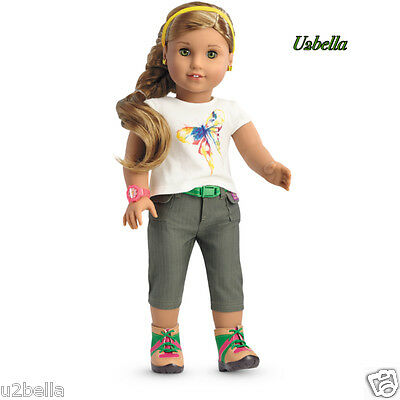 AMERICAN GIRL LEA CLARK RAIN FOREST HIKE OUTFIT NEW IN BOX- NO DOLL!