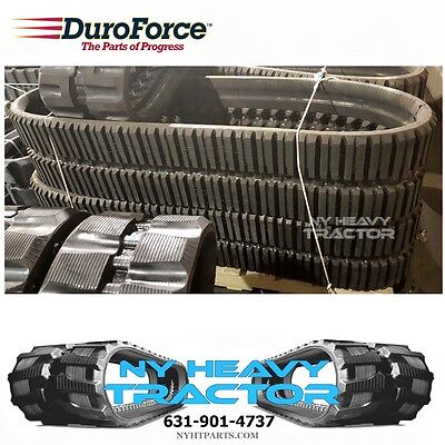 Two Duroforce Rubber Tracks For Case 445ct 450x86x55 17.7 Multi Bar Style
