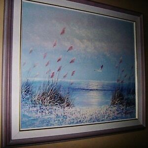 REDUCED !!!Canvas Painting of a Seaside Stratford Kitchener Area image 1