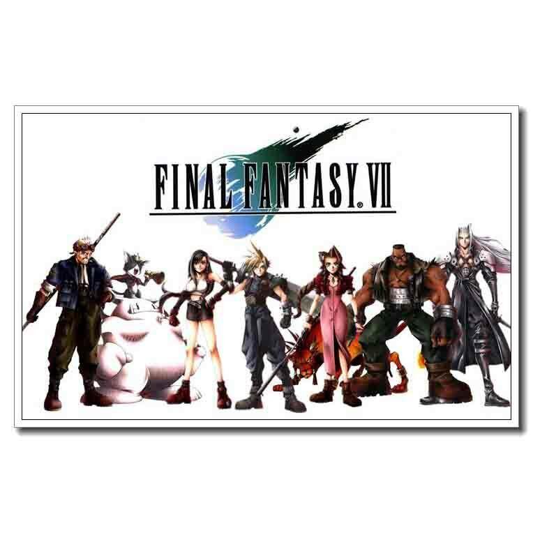 Final Fantasy 7 Tifa Art Silk Poster 12x18 24x36