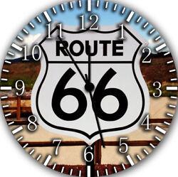 Route 66 Frameless Borderless Wall Clock For Gifts or Home Decor E451